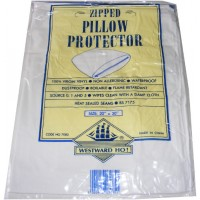 1 Zipped Plastic Vinyl Waterproof Pillow Protector